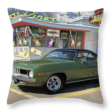 Fenders Diner Throw Pillow