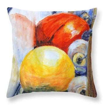 Fenders II Throw Pillow by Barbara Pommerenke