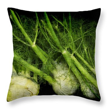 Flemish Fennel Art Throw Pillow