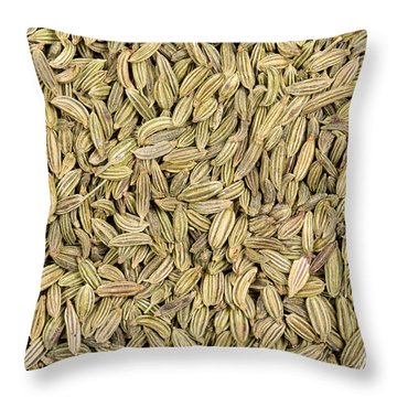 Fennel Seeds Throw Pillow by Jane Rix