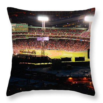 Fenway At Night Throw Pillow