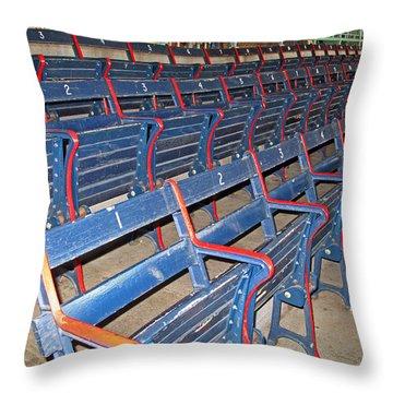 Fenway Blues Seats Throw Pillow by Barbara McDevitt