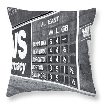 Fenway Park Green Monster Scoreboard II Throw Pillow
