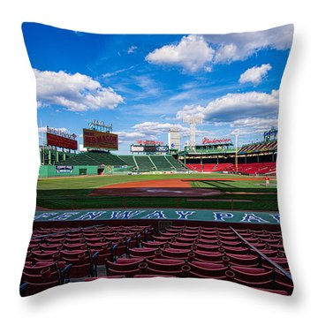 Fenway Park Throw Pillow by Tom Gort