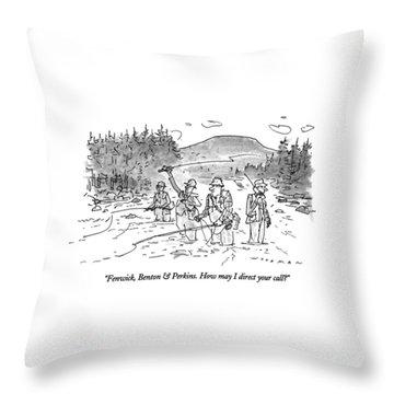Fenwick, Benton & Perkins. How May I Direct Throw Pillow