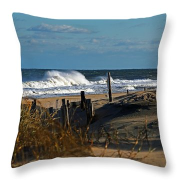 Fenwick Dunes And Waves Throw Pillow