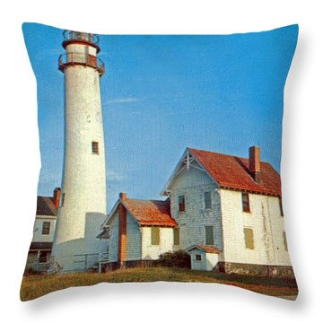 Fenwick Island Lighthouse 1950 Throw Pillow