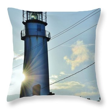 Fenwick Island Lighthouse - Delaware Throw Pillow