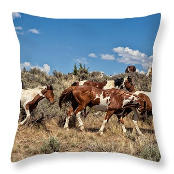 Feral And Free Throw Pillow