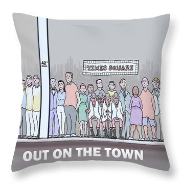 Feral Coots Out On The Town Throw Pillow