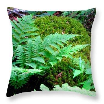 Fern And Moss Throw Pillow