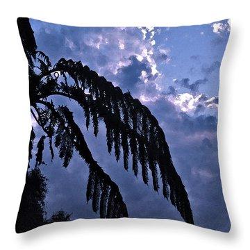Fern At Twilight Throw Pillow