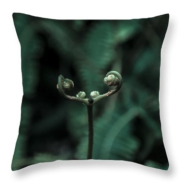 Fern Bud Throw Pillow