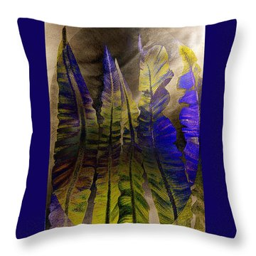 Fern Forest Throw Pillow by Paula Ayers
