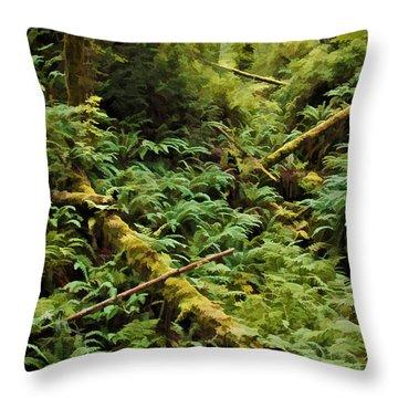 Fern Hollow Throw Pillow by Richard Farrington