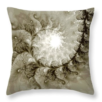 Fern Throw Pillow by Kevin Trow