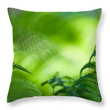 Fern Leaves. Healing Art Throw Pillow