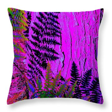 Throw Pillow featuring the photograph Fern Shadows by Ann Johndro-Collins