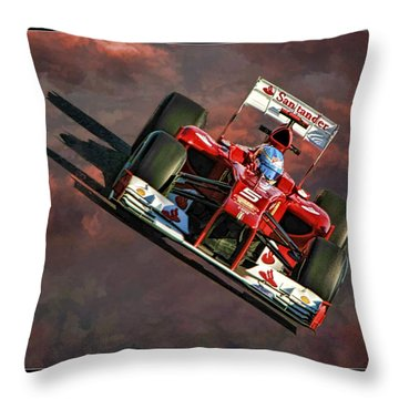 Fernando Alonso Ferrari Throw Pillow