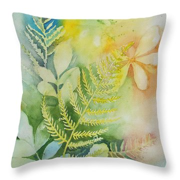 Ferns 'n' Leaves Throw Pillow