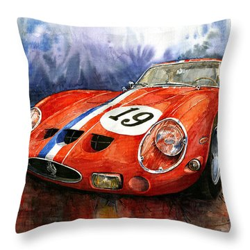 Ferrari 250 Gto 1963 Throw Pillow by Yuriy  Shevchuk