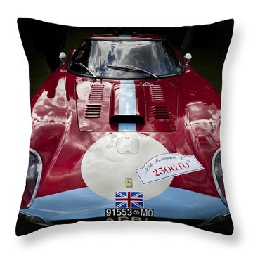 Ferrari 250 Gto Scaglietti 64 C Throw Pillow by Maj Seda