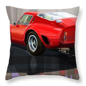 Ferrari 250 Gto Throw Pillow by Yuriy Shevchuk