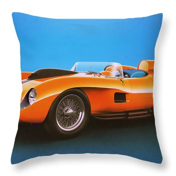 Ferrari 250 Testa Rossa - Vintage Racing Throw Pillow