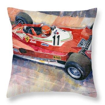 Ferrari 312 T2 Niki Lauda 1977 Monaco Gp Throw Pillow