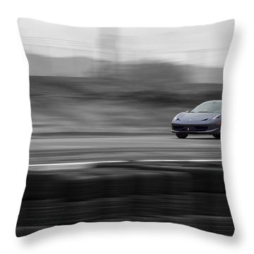 Ferrari 458 Italia Supercar Throw Pillow