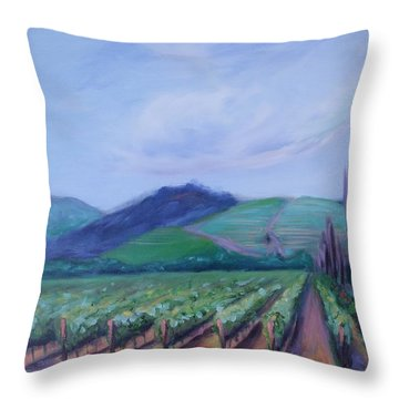 Ferrari Carano Vineyard Throw Pillow by Donna Tuten