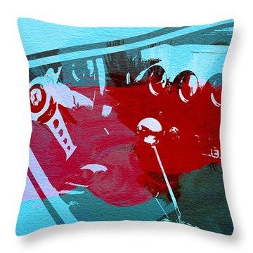 Ferrari Cockpit Throw Pillow by Naxart Studio