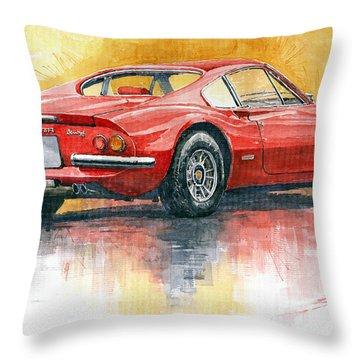 1969-1974 Ferrari Dino 246 Throw Pillow
