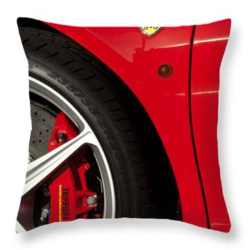 Ferrari Emblem 3 Throw Pillow by Jill Reger