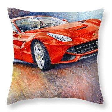 2014 Ferrari F12 Berlinetta  Throw Pillow