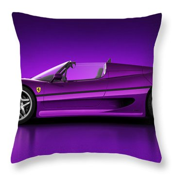 Ferrari F50 - Neon Throw Pillow