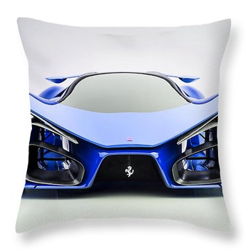 Ferrari F80 Eye Candy Blue Throw Pillow by Marvin Blaine
