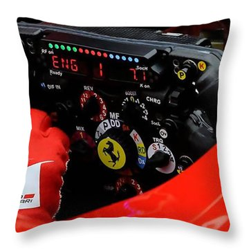 Ferrari Formula 1 Cockpit Throw Pillow