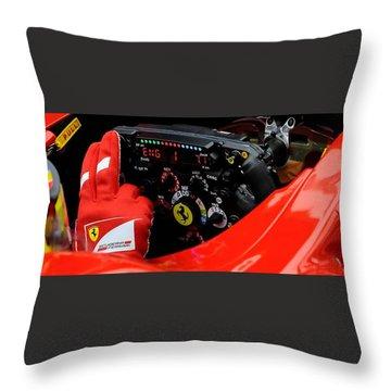 Ferrari Formula 1 Cockpit Throw Pillow