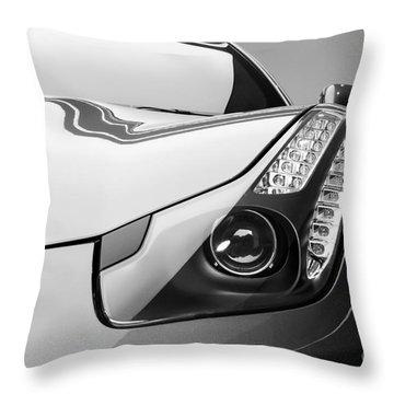 Ferrari Headlight Throw Pillow by Matt Malloy