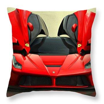 Ferrari Laferrari F 150 Supercar Throw Pillow by Movie Poster Prints