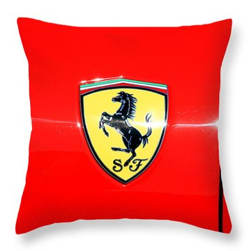 Ferrari Logo Throw Pillow