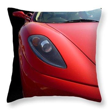Throw Pillow featuring the photograph Ferrari by Vicki Spindler