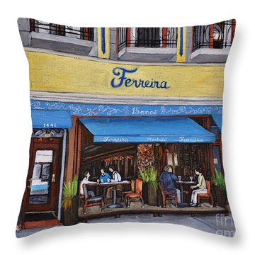Ferreira Cafe  Throw Pillow by Reb Frost
