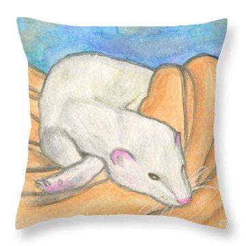 Ferret's Favorite Blanket Throw Pillow