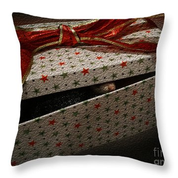 Throw Pillow featuring the photograph Ferrety Christmas by Cassandra Buckley