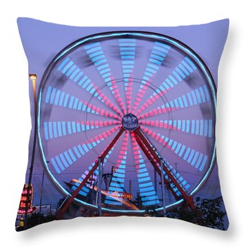 Ferris At Dusk Throw Pillow