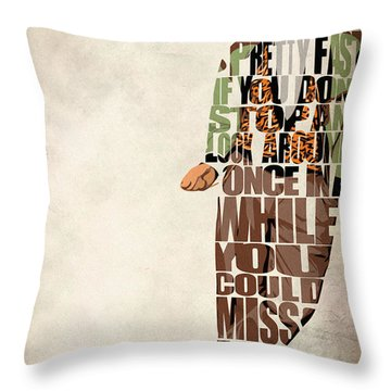 Ferris Bueller's Day Off Throw Pillow by Ayse Deniz