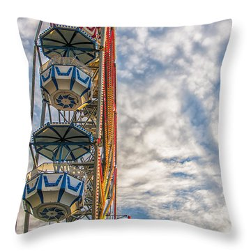 Ferris Wheel Throw Pillow by Antony McAulay