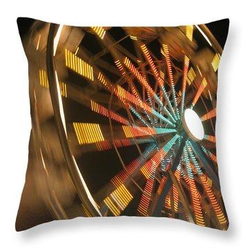 Ferris Wheel Throw Pillow by Brandon Tabiolo
